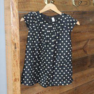 Baby GAP black & white polka dot dress